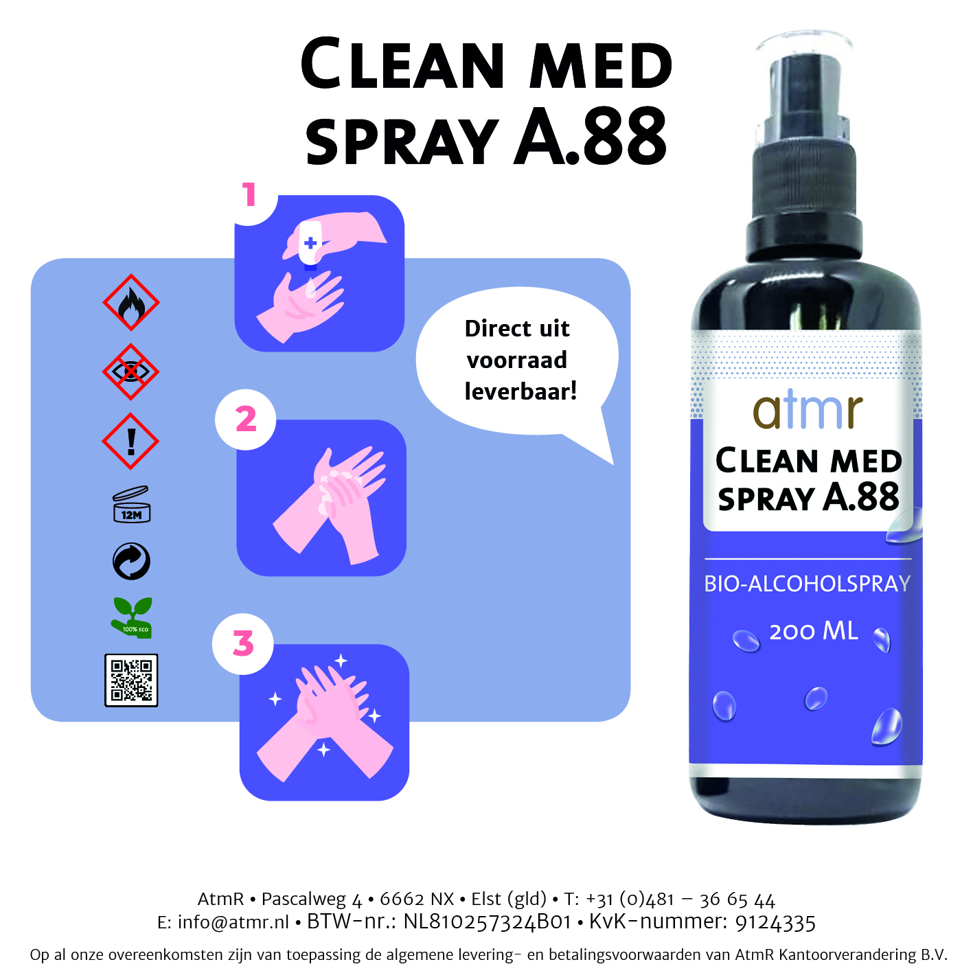 Atmr gifts clean med spray